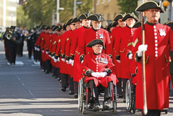 Rubbing shoulders with the redcoats