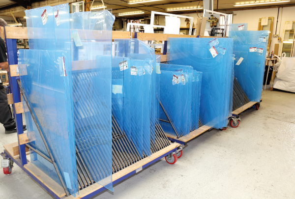 We are also using a new, non-reflective glass which we are importing from Germany. Transporting the 440 sheets of glass for cutting and toughening has involved a whole logistical planning process all its own! But, as ever, our team rise to every challenge.