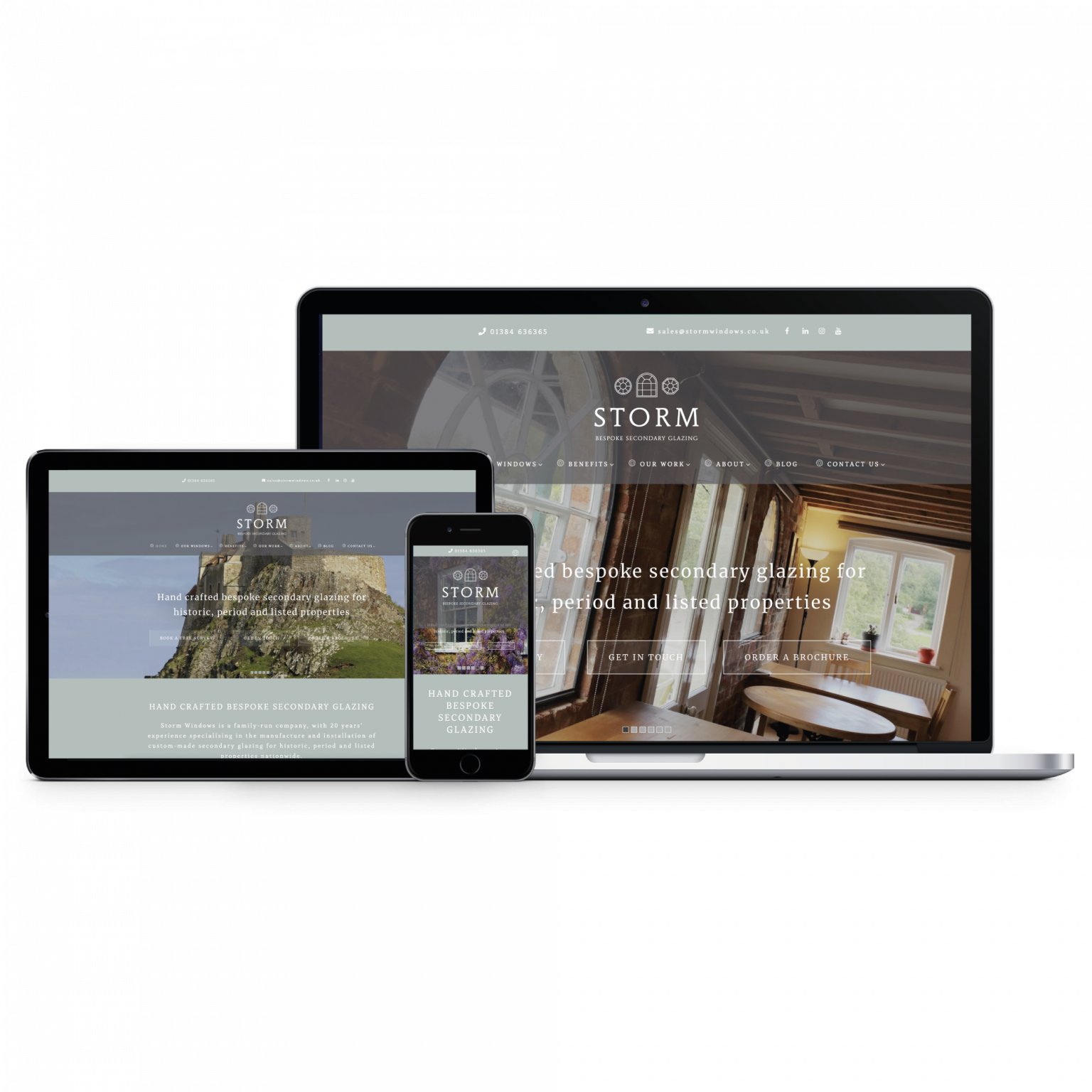 Storm Bespoke Secondary Glazing - take a look at our brand new website